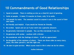 Adèle McLay 10 Commandments of Good Relationships - Adèle McLay